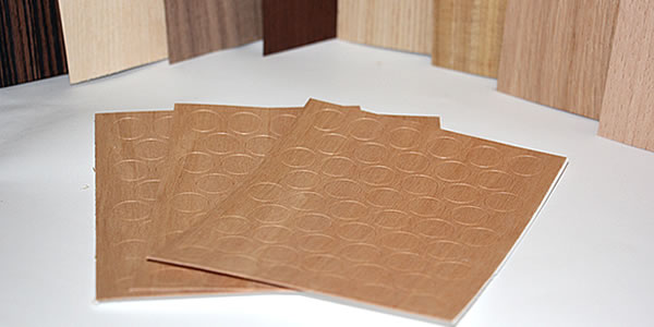 Self Adhesive Screw Covers in Veneer