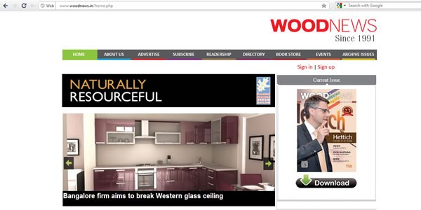 Tece is feature at Woodnews After Mumbaiwood 2013
